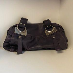 B. Makowsky Purple Zippier Satchel Handbag